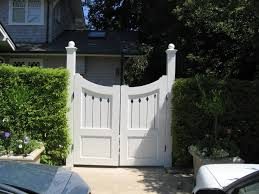 Rustic Garden Decor Ideas Fetching Picture Of Small Double White Wood Garden Gate As