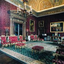 eye for design houghton hall take a tour of one of england s as in other houses of that time there was a progression of patterns and materials with the boldest in the the saloon the wall covering is called genoa