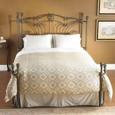 king iron bedroom metal frame australia spindle rails single nz