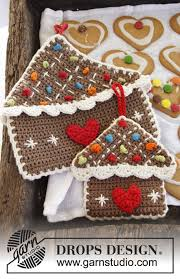 gingerbread house pot holder crochet pattern allcrafts free