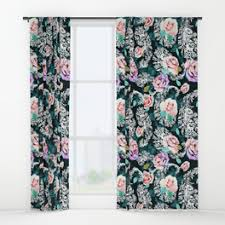 Turquoise Paisley Curtains Paisley Window Curtains Society6
