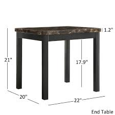 Marble Accent Table Darcy 3 Metal And Faux Marble Accent Table Set By Inspire Q