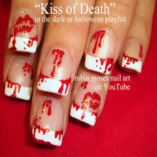 beautiful simple nail designs for halloween