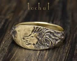 asian lion ring holder images Gold lion ring etsy jpg
