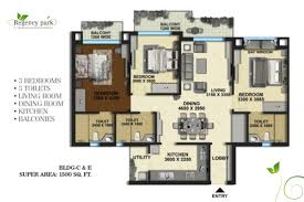 regency park floor plan 1500 sq ft type b