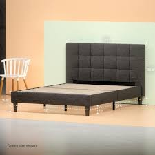 Bed Platform Frame Upholstered Square Stitched Platform Bed Frame Zinus