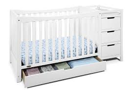 Convertible Cribs With Attached Changing Table by Amazon Com Graco Remi 4 In 1 Convertible Crib And Changer White