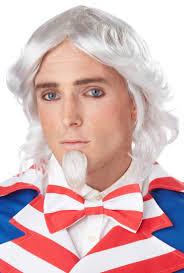 Halloween Costume Goatee Curly White Wig Goatee Men U0027s American Uncle Sam Costume Wig