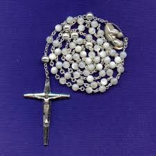 creed rosary bold vintage creed sterling of pearl rosary 44 grams from