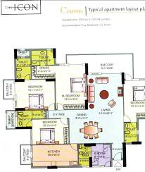 Icon Floor Plan Dlf The Icon Gurgaon Residential Projects In Dlf Phase Ii