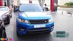 wrapped range rover satin blue wrapped rangerover sport autobiography from ksa youtube