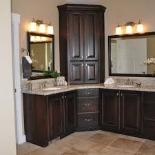 Kitchen Attractive Tall Bathroom Linen Cabinets Regarding Elegant - Elegant corner cabinets for bathrooms residence