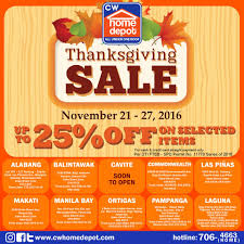 2016 home depot black friday sale manila shopper november 2016