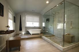 Narrow Bathroom Ideas by Narrow Bathroom Design With Nice Creme Wall Tiles And Small Tub