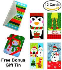 money cards set of 12 christmas money card holders assortment of