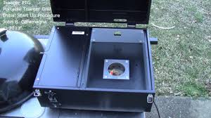 traeger ptg portable traeger grill initial start up youtube