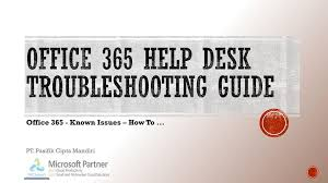 Office 365 Help Desk Office 365 Help Desk Troubleshooting Guide Ppt
