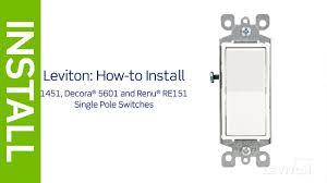 Light Switch Wiring Wiring A Single Pole Light Switch Diagram