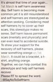 michaela on tomorrow is self harm awareness day wear