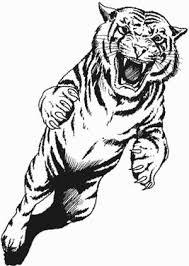 attacking tiger design