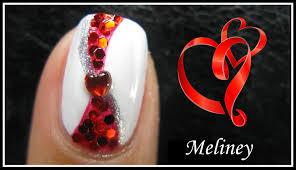 valentine u0027s day nail design romantic red ribbon heart nail art