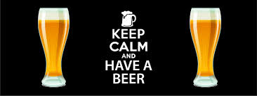 calm and have a beer black pint design bar runner great for home