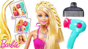 film kartun anak barbie terbaru barbie glitter blow dryer barbie doll hair tastic styling playset