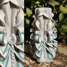 carved house candles christmas decorations partylite