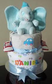 baby shower gift delivered blue jumbo elephant diaper cake baby