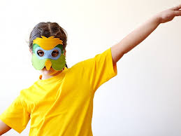 Parakeet Halloween Costume Parrot Mask Kids Tropical Parrot Mask Bhb Kidstyle