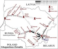Direction Map Maps Of Lithuania True Lithuania