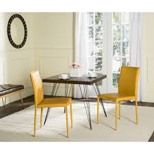 Safavieh Dining Room Chairs by Safavieh Mid Century Dining Karna Antique Yellow Dining Chairs