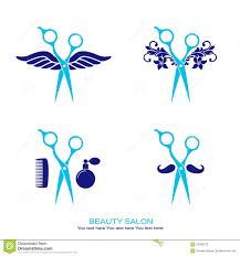 hair salon logo set with scissor stock vector image 56389723