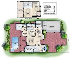 Mediterranean Floor Plan Mediterranean House Plans Florida Home Design Wdgg2 3250 G 13295