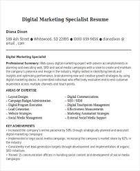 48 simple marketing resumes free u0026 premium templates