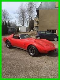 1975 corvette stingray for sale 1975 chevrolet corvette stingray for sale in goderich ontario