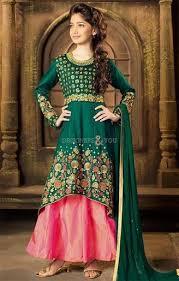 dress design buy bottle green asymmetric floral lookalike dress design