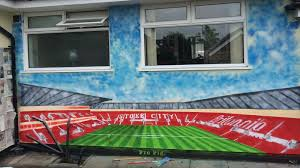 stoke fan stunned as graffiti artist paints britannia stadium on stoke fan stunned as graffiti artist paints britannia stadium on his house premier league 2015 2016 football eurosport