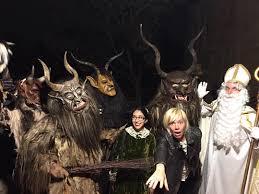 spirit halloween alpine krampus los angeles the european christmas devil runs amok on la