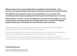 que es layout ingenieria mine magazine layout design on behance