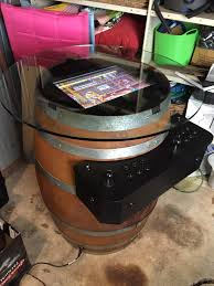 raspberry pi mame cabinet barrel o fun arcade machine barrel table raspberry pi