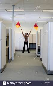 Semaphore Flags Corporate Communications Woman Uses Semaphore Flags To Signal