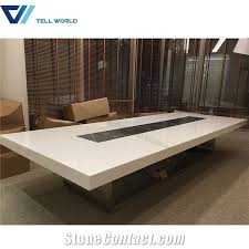 Marble Boardroom Table Furniture Tell World Solid Surface Co Ltd