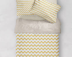 chevron duvet cover etsy