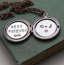 Monogram Locket Necklace Best Friends Necklace Personalized Locket Necklace Monogram