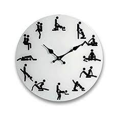 kamasoutra dans la cuisine horloge murale 35 cm de diamètre amazon fr cuisine maison