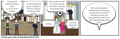 situational irony in romeo and juliet storyboard