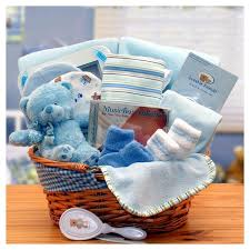baby basket gift simply the baby basics new baby gift basket blue