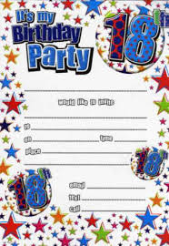 18th birthday party invitations star design pack of 20 party wizard