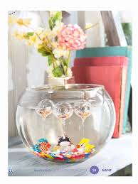 colorful whale floating glass aquarium charms six pack